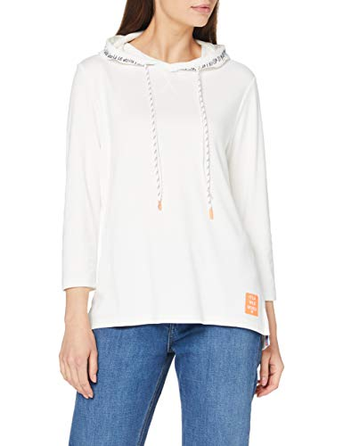 Cecil Damen 315217 Hoodie T-Shirt, Pure Off White, Large