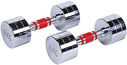 6KGX2PCS Dumbbell Gym Gewichtheffen Pure Stalen Mannen en Dames Roestvrij staal Ronde Hoofd Electroplating One Dumbbell (C...