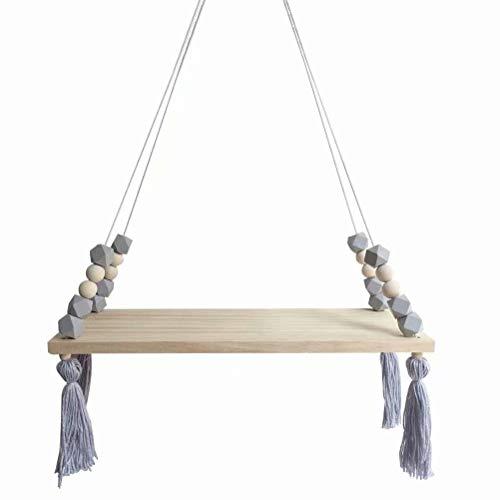 Achteckiges Holzperlenspeicherbrett des festen Kiefernbrettes einges?umtes Wandbehangregal