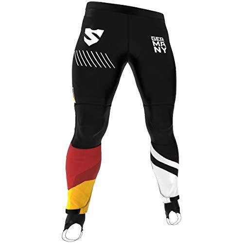 SMMASH GERMANY 3.0 Herren Sport Leggings Lange, Thermo Laufhose, Atmungsaktiv Fitness Strumpfhosen, Sportleggings für Männer, Sporthose Crossfit, Gym, Jogginghose, Thermohose (M)