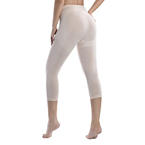 +MD Damen Shapewear Yoga Hose Leggings Figurformende Bauch Weg Shaping Leggins Hose Medium Nude