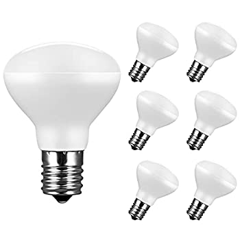 6-Pack Dimmable E17 LED Bulb R14 Reflector Floodlight 4W 40w Equivalent  Light Bulbs Flicker-Free Intermediate Base Soft White 2700K Great for Curio Cabinet China Cabinet and Ceiling Fan