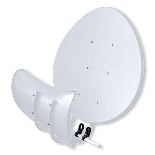 Satspiegel Toroidal (Wavefrontier) T55 P - lichtgrau - Multifocus Antenne - inkl. 5 Stück LNB Halter