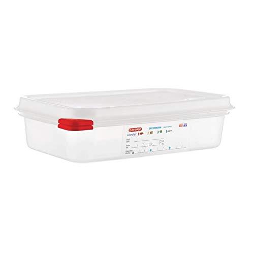 Araven 13351 Lot de 4 boîtes alimentaires en polypropylène GN avec couvercle 1,8 l 65 mm