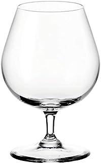 Leonardo Ciao Cognac-Glas, Cognac-Schwenker mit gezogenem Stiel, spülmaschinenfeste Weinbrand-Gläser, 6er Set, 400 ml, 061454