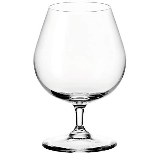 Leonardo Ciao+ Cognac-Glas, Cognac-Schwenker mit gezogenem Stiel, spülmaschinenfeste Weinbrand-Gläser, 6er Set, 400 ml, 061454