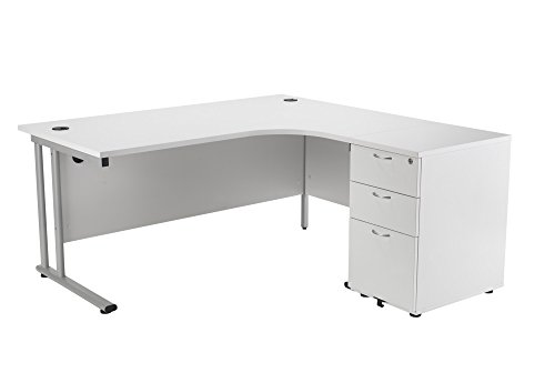 Office Hippo Professional Right Corner Office Desk With 3 Drawer...