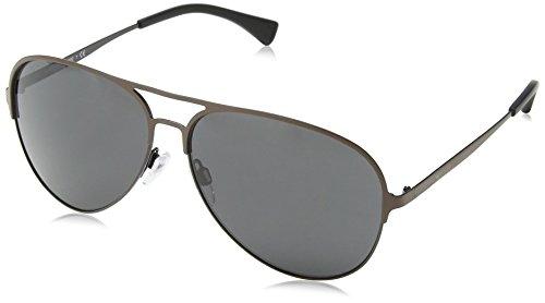 Emporio Armani Herren 0EA2032 312887 59 Sonnenbrille, Schwarz (Matte Brown//Black/Grey)