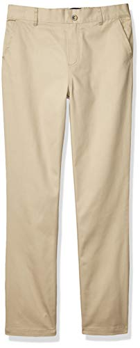 French Toast Girls' Pull-On Twill Pant (Standard & Plus), School Uniform Khaki, 8