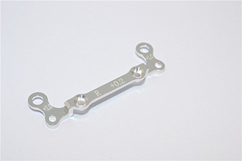 Kyosho Mini-Z AWD Upgrade Pièces Aluminium Rear Knuckle Arm Holder (Toe In 0.2mm, Thick 1.0mm) GPM Design - 1Pc Silver