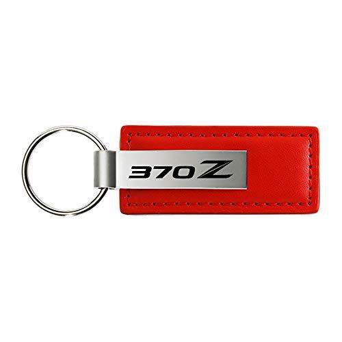 Au-TOMOTIVE GOLD Nissan 370Z Keychain & Keyring - Red Premium Leather