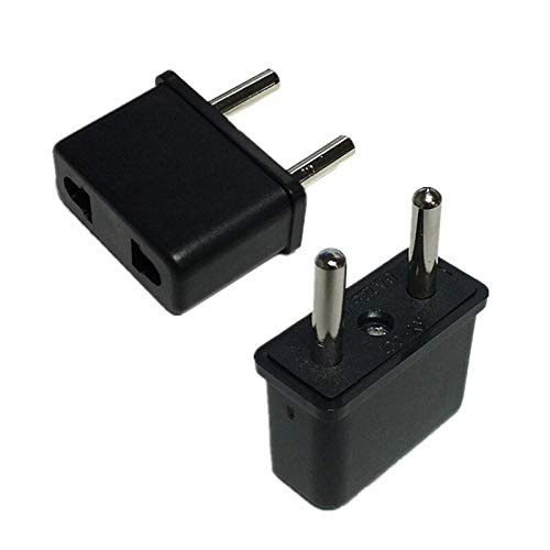 100pcs Best Price Sale USA US To EU Europe EURO Travel Charger Power Adapter Converter Wall Home Plug