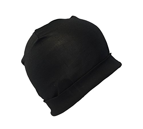 Jasmine Silk Bonnet Hat - Noir