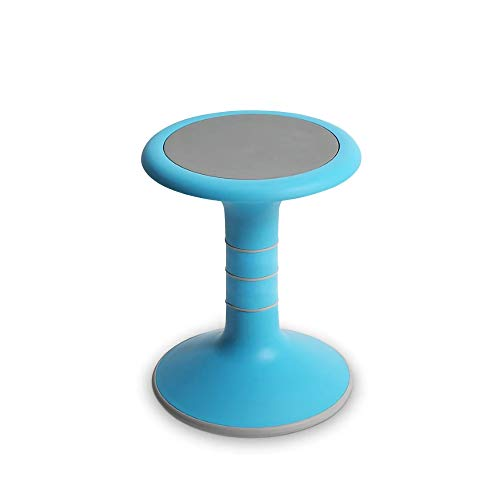 OFFICE LOGIX SHOP Wobble Chair for Kids - Ergonomic Wobble Stool to Encourage Right Posture, Balance & Strengthen Core - School Classroom - Active Kid ADHD Fidget Seat (17' Fixed, Light Blue)