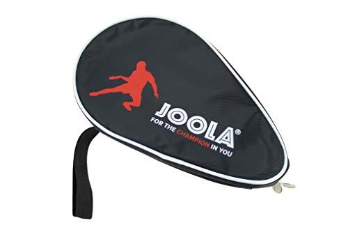 JOOLA Tischtennisschläger Hülle Pocket Double Tischtennishülle für 2 Wasserabweisende Tischtennistasche, Schwarz/Rot, 28 x 17 x 4 cm