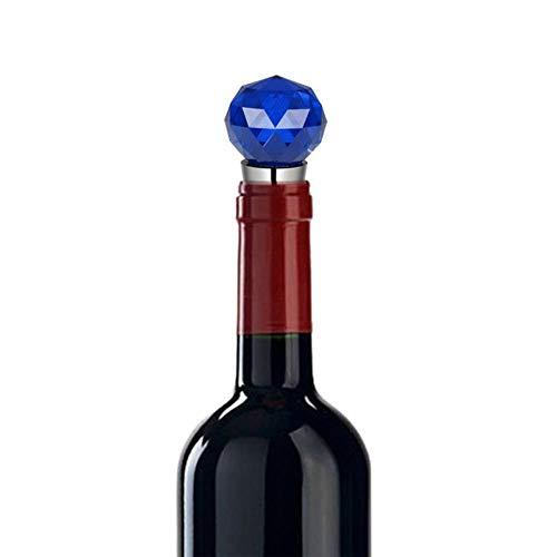 Heng Wine Stoppers Diamond Crystal RVS Champagne Stopper Mousserende wijnfles Plug Sealer Handig, blauw