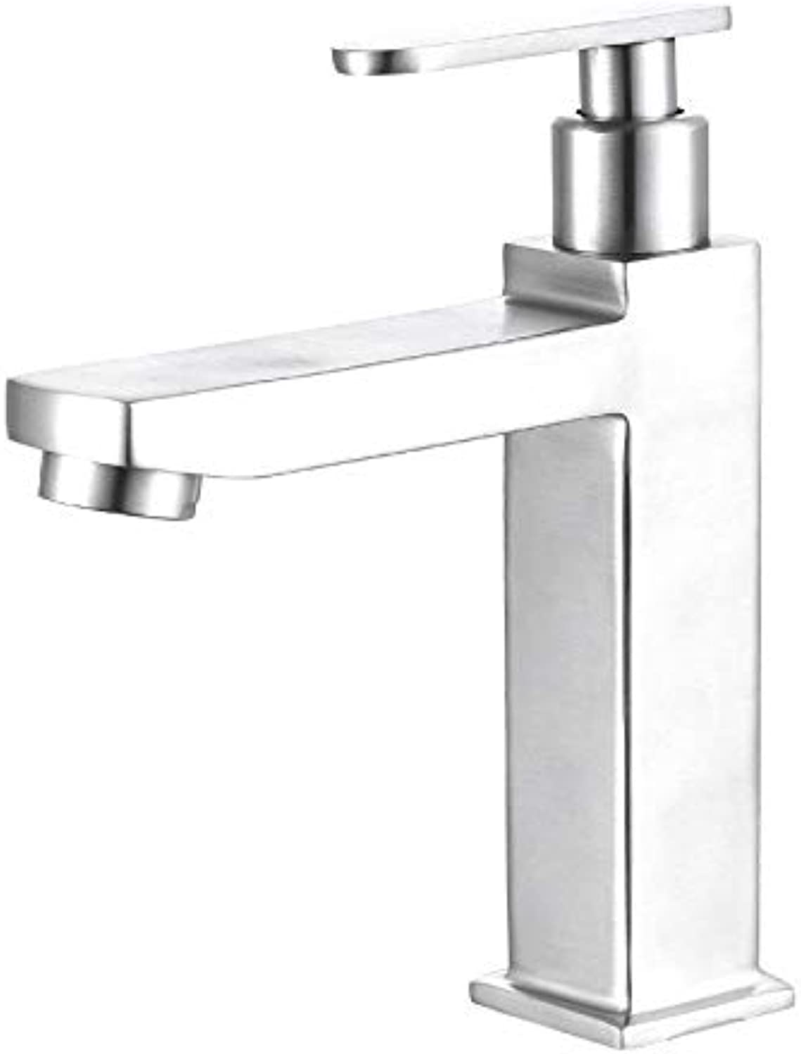 redOOY Taps Faucet Above Counter Basin 304 Single Cold Basin Faucet Bathroom Bathroom Ceramic Basin Faucet
