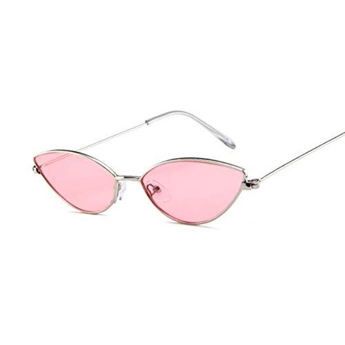 Gafas De Sol Moda Ojo De Gato Gafas De Sol Mujeres Hombres Lindas Gafas Sexy Retro Pequeño Marco Negro Rojo Ojo De Gato Gafas De Sol Rosa