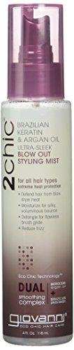 Giovanni 2chic Brazilian Keratin & Argan Oil Ultra-Sleek Blow Out Styling...