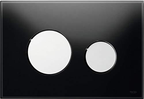 TECE Loop WC Betätigungsplatte Glas schwarz, Tasten Chrom glänzend 9240656