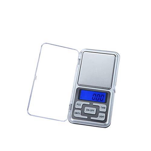 N-B Báscula de Cocina Digital electrónica (0.01g / 0.1g) Báscula de Cocina de Primera Calidad Mini báscula de Acero Inoxidable de 500 g / 3000 g con Pantalla LCD retroiluminada Plata