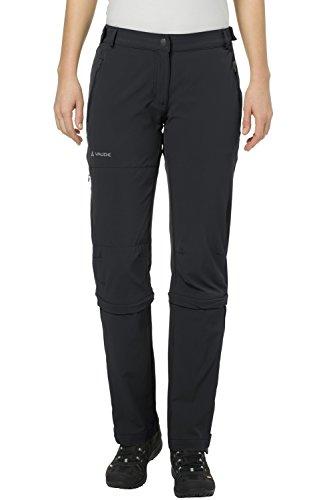 VAUDE Farley Stretch Capri T-Zip Pantalon II Femme, Black, FR : XS (Taille Fabricant : 36)