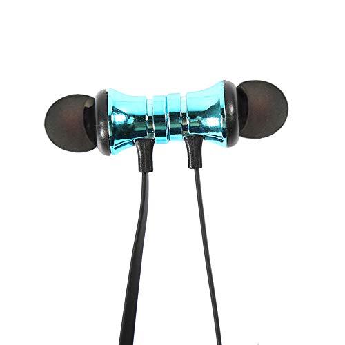 Festnight XT-11 Bluetooth 4.1 Cuffie Auricolari Wireless Cuffie per Sport all'aperto Musica Auricolare Aspirazione Magnetica Microfono Incorporato Controllo Linea Blu