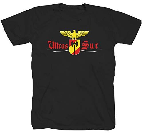 Siempre Fieles Ultras Sur Madrid Fútbol Fans Derby Ultra España, Negro Camiseta, Camiseta Negro XL