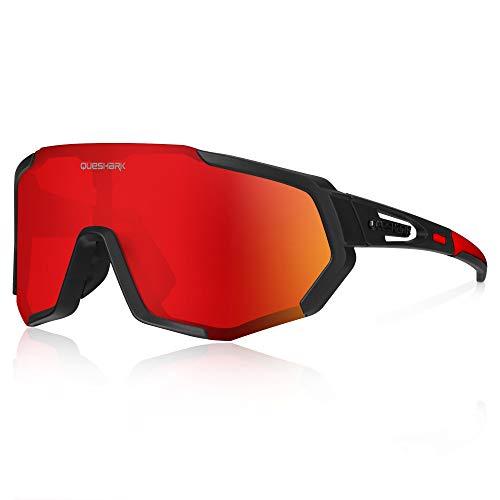 Queshark Gafas de Ciclismo Polarizadas Gafas de Sol Deportiv