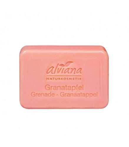 Alviana Naturkosmetik Pflanzenöl-Seife Granatapfel 100 g