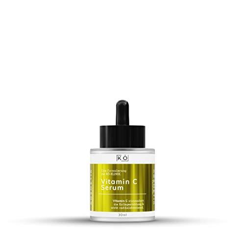 Vitamin C Serum fürs Gesicht 30 ml, hochdosierte Anti-Aging-Formel mit Hyaluronsäure, für alle Hauttypen geeignet, tierversuchsfrei von KÖSMETIK