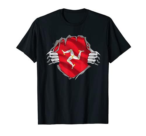 Super Manx Heritage Proud Isle of Man Roots Flag T-Shirt