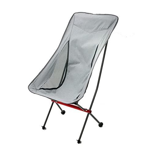 GO-AHEAD Silla Camping Silla de Camping al Aire Libre Ultraligero Plegable Luna Silla de Pesca de la aleación de la aleación para Picnic BBQ Beach