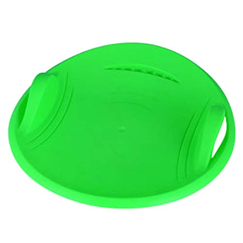 H&S SH Schneeschuck, rund, Kunststoff, Schlitten, Schlitten, Schlitten, Sand, Slider Disc Skifahren, Schlitten, Werkzeug für Kinder, Gras, Skifahren/Sandboarden/Skifahren, SH, grün, 57 x 57 x 9.5 cm