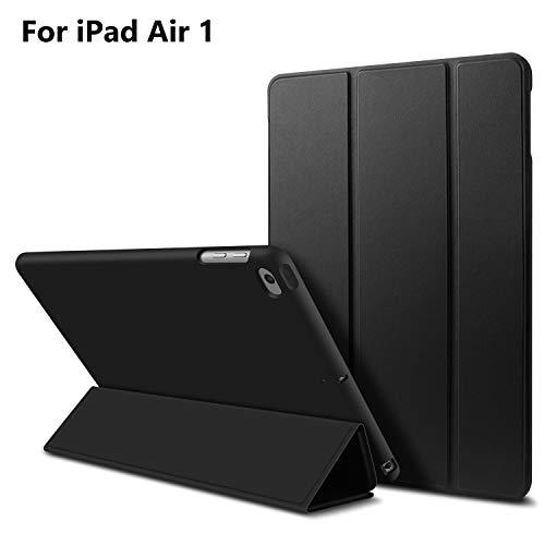 iPad Air 1 Hülle,GOOJODOQ iPad Air 1 PU Leder Etui Hülle Tasche mit Ständer Funktion und Eingebautem Magnet für Einschlaf/Aufwach Shockproof Silikon Weicher TPU Folio Hülle für Apple iPad Air 1