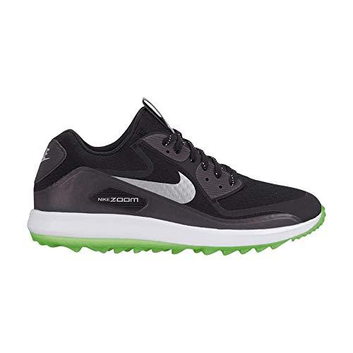 Nike Air Zoom 90 IT NGC - Zapatillas de golf para hombre, 9.5, Negro/Plateado/Blanco-Verde Strike