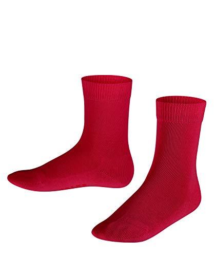 FALKE Unisex Kinder Family K SO Socken, Blickdicht, Rot (Berry 8106), 27-30 (3-6 Jahre)