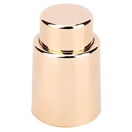 Tapón de vino-Tapón de botella de vacío Tapón de vino reutilizable Botella de bomba Tapón sellado Herramienta preservada(Gold)