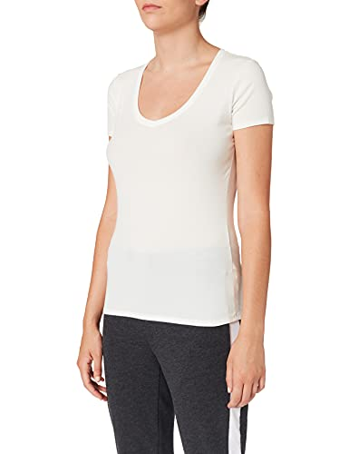 Schiesser Damen Unterhemd Shirt 1/2 Arm, Gr. 40, Beige (sekt 403)
