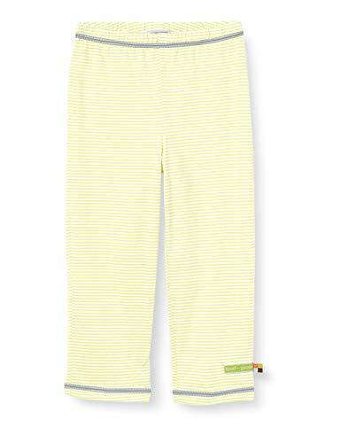 Loud + Proud Light Striped Pant Organic Cotton Pantalon, Jaune (Lemon Lea), 74/80 Bébé Fille