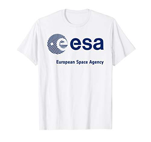 ESA Shirt, European Space Agency Schrift Fingerprint Logo T-Shirt