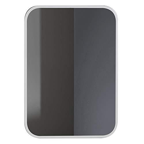 Bathroom Mirror LDFZ wandspiegel voor badkamer, wandspiegel met metalen frame, HD explosiebeveiligd, glasplaat afgeronde hoeken