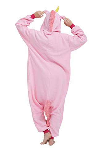 SAMGU Einhorn Adult Pyjama Cosplay Tier Onesie Body Nachtwäsche Kleid Overalll Animal Sleepwear Rosa - 6