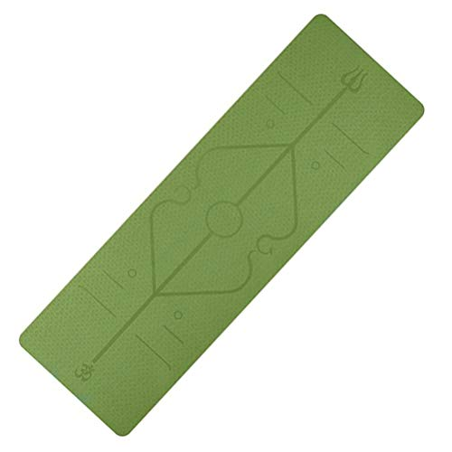 Mankoo jogamatte Yoga-Matte Professional aus TPE, rutschfest, Anti-allergisch, schadstofffrei, 100% biologisch abbaubar, 183 x 61 cm, 6 mm stark