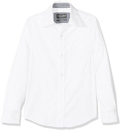 G.O.L. Jungen Kentkragen, Slimfit Hemden, Weiß (White 6), 128