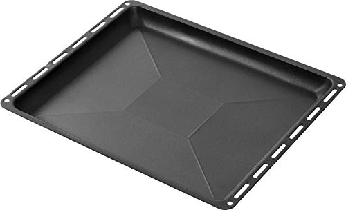 ICQN Bandeja de horno antiadherente, apta para horno Bosch, Siemens, Neff, Constructa Profilo, bandeja para tartas, base esmaltada, 455 x 377 x 30 mm
