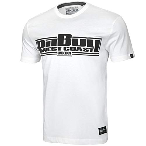 Pit Bull West Coast T-Shirt, Classic Boxing, weiß Größe L