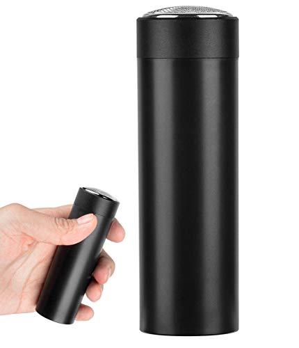 Mini Afeitadora Eléctrica para Hombre, Maquinilla de Afeitar Portátil de Bolsillo Maquinilla de Afeitar Rotativa Recargable USB para Viajes o Uso Doméstico
