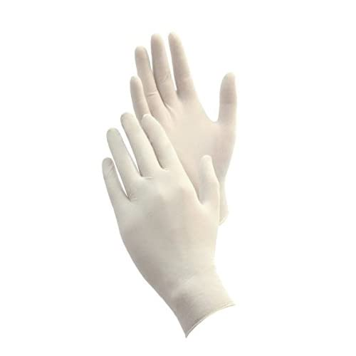 Pack of 100 Powder Free 5 mils Thick 9.6 Length Medium Microflex ComfortGrip Latex Glove