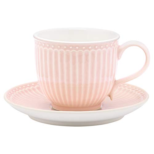 Greengate Tasse mit Untersetzer Alice Pale Pink